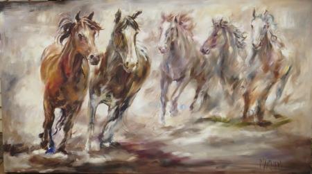 'Running Free' 1.8x1m, Dimitrov Gallery, Dullstroom