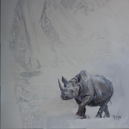 rhino 1x1m Dimitrov art gallery, Dullstroom